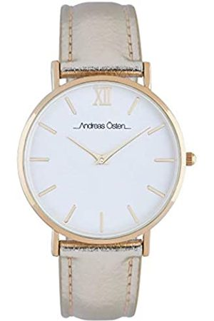 Andreas Osten Unisex-Adult Analogue Classic Quartz Watch with Leather Strap AO-196