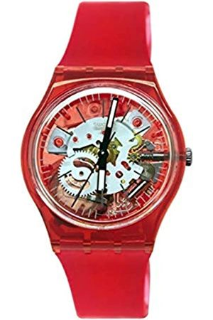 Swatch Mens Analogue Quartz Watch with Silicone Strap GR178