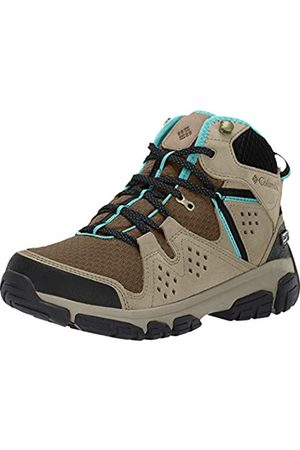 Columbia Women's Waterproof ISOTERRA MID Outdry Hiking Shoes, (Mud, Teal)