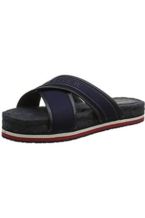 Tommy Hilfiger Women's Colorful Tommy Flat Sandal Open Toe, (Midnight 403)