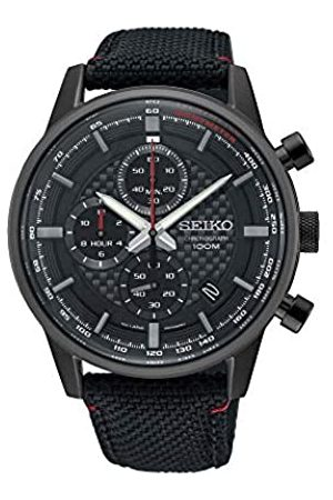 Seiko Mens Chronograph Quartz Watch with Leather Strap SSB315P1