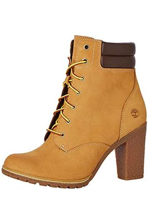 Timberland Women's Tillston 6 Inch Double Collar Lace-up Boots, (Wheat Nubuck)