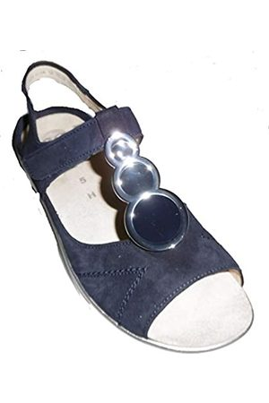 ARA Women's Courtyard T-Bar Sandals, (Blau 72)