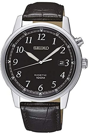 Seiko Mens Analogue Kinetic Watch with Leather Strap SKA781P1