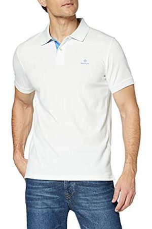 GANT Men's Contrast Collar Pique Ss Rugger Polo Shirt