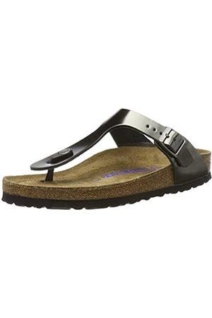 Birkenstock Gizeh, Women's Sandals, Grau (Metallic Anthracite)