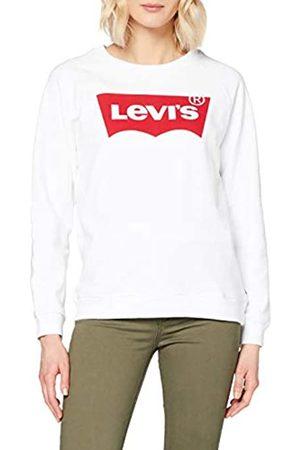 Levi's Women's Relaxed Graphic Crew Sweatshirt, White (Better Batwing Sweatshirt White 0014)