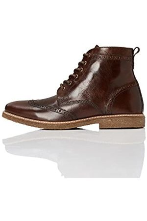 FIND Men's Boots in Brogue Design with Crepe Sole