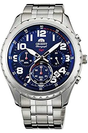 Orient Mens Chronograph Quartz Watch with Stainless Steel Strap FKV01002D0