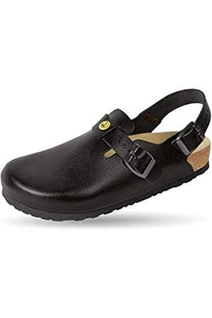 Weeger Unisex Adults' ESD Clog Work Shoes, (Schwarz Schwarz)