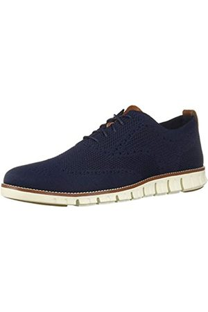 Cole Haan Men's Zerogrand Stitchlite Oxfords, (Marine Blu/Ivory)