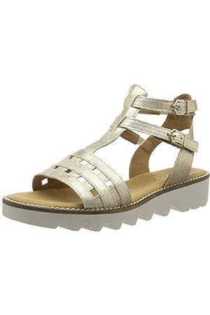 Gabor Shoes Women's Comfort Sport Ankle Strap Sandals, (Platino 14)