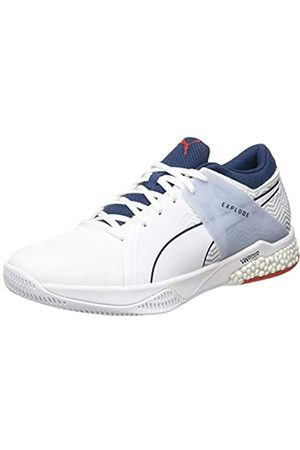 Puma Unisex Adulto Explode Eh 2 Botas de fútbol, Blanco -Dark Denim-High Risk -Glacier Gray 01