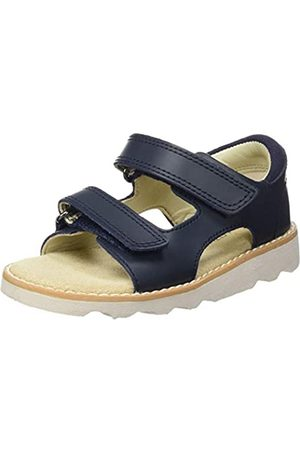 Clarks Boys' Crown Root T Sling Back Sandals, (Navy Leather-)
