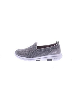 Skechers Women's GO Walk 5-Honor Trainers, (Gray Textile/Trim Gry)