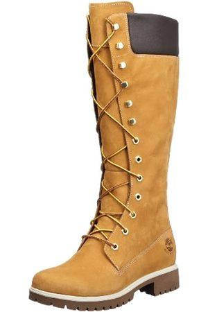 Timberland Women's Premium 14 Inch Waterproof Lace-up Boots, (Wheat Nubuck)