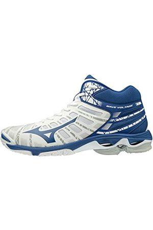 Mizuno Unisex Adult's Wave Voltage MID Volleyball Shoes, (Wht/Trueblue 21)