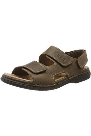 Rieker Men's 25558-25 Closed Toe Sandals, (Tabak 25)
