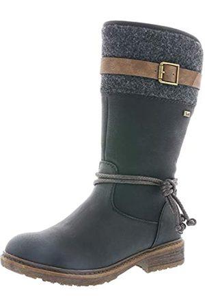 Rieker Women Boots 94778, Ladies Winter Boots, Long Shaft Boots,Lined,Warm,Waterproof,Schwarz