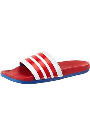 adidas Men's Adilette Comfort Sandal, Footwear /Scarlet/Team Royal