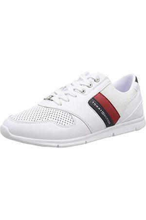 Tommy Hilfiger Women's Lightweight Leather Sneaker Low-Top, (RWB 020)