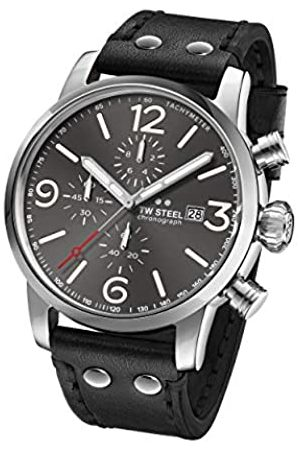 TW steel Unisex Adult Chronograph Quartz Watch with Leather Strap MS93