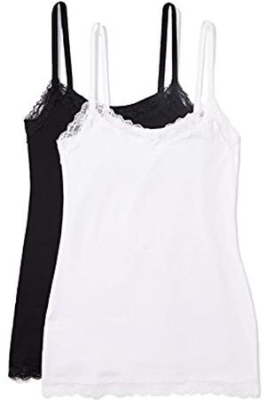 White, Nude or Black Womens Lace Singlet Vest