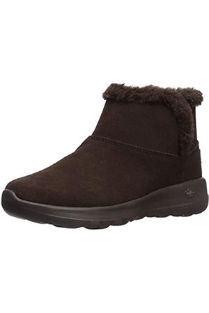Skechers Women's ON-The-GO Joy-Bundle UP Ankle Boots, (Chocolate Suede Chocolate)