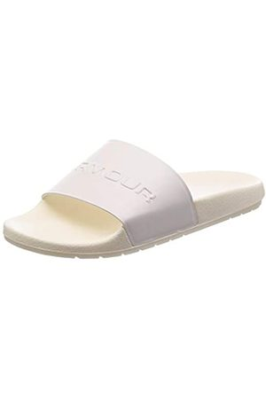 Under Armour Men Sandals - Unisex Adults' Core Remix Beach & Pool Shoes, (Onyx / /Metallic (101) 101)