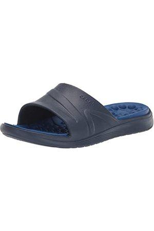 Crocs Unisex Adults' Reviva Slide Open Toe Sandals, (Navy/ Jean)