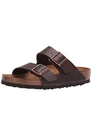 Birkenstock Unisex Adult Arizona Birko-Flor Sandals, (DARKBROWN)