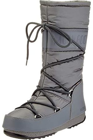 Moon-boot Unisex Adults High Nylon Wp Snow Boots, (Grigio 006)