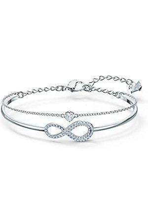 Swarovski Women's Rhodium plated Infinity Bangle 5520584