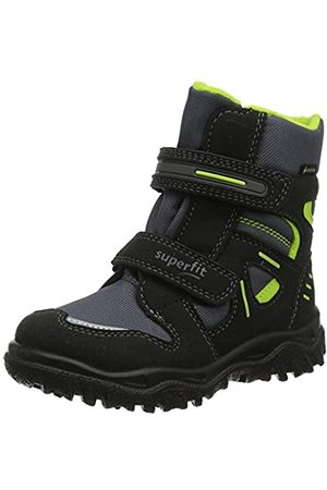 Superfit Boys' Husky Snow Boots, (Schwarz/Grün 03)