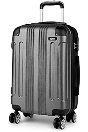 "Kono 20"" Cabin Suitcase Hard Shell ABS Hand Luggage with 4 Spinner Wheels (Small 20"")"