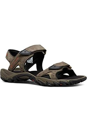 Columbia Men's Santiam 2 Strap Sandals, (Mud, Heatwave 255)