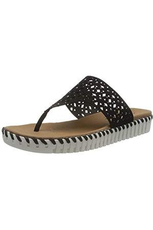 Skechers Women's SEPULVEDA-Larkspur Flip Flops, ( Microfiber Blk)