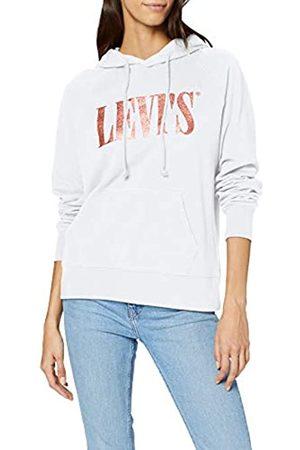 Levi's Women's Graphic Sport Hoodie, (Hoodie Tall Serif T3 Glitter + 0184)