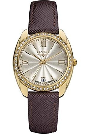 ELYSEE Unisex Adult Analogue Quartz Watch with Leather Strap 28601B