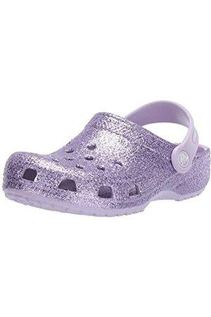 Crocs Unisex Kid's Classic Glitter Clog, (Lavender 530)