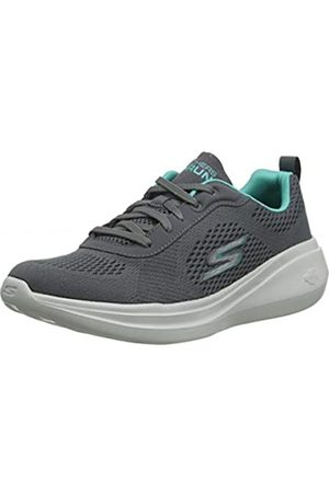 Skechers Women's GO RUN FAST-GLIDE Trainers, (Charcoal Textile/Turquoise Trim Cctq)