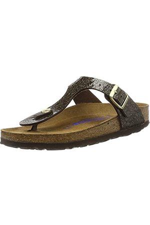 Birkenstock Unisex Adults' Gizeh T-Bar Sandals, (Myda Espresso)