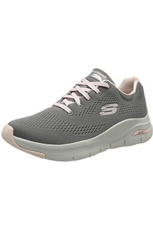 Skechers Women's Arch FIT Trainers, (Gray Knit Mesh/ Trim GYPK)