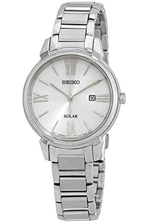 Seiko Women's Analogue Solar Powered Watch with Stainless Steel Strap SUT323P1