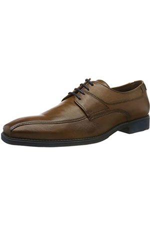 Lloyd Men's shoe GRADY, classic business leather shoe with rubber sole, (Cognac 3)