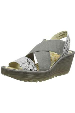 Fly London Women's Yaji888fly Open Toe Sandals, Off- (offwhite/piombo 010) White UK