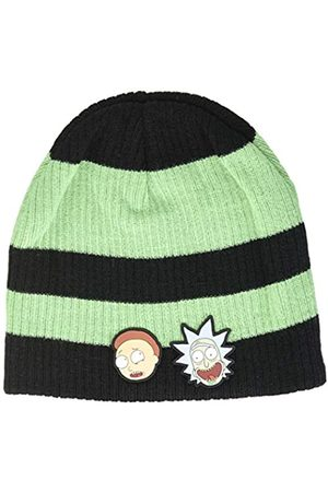 Bioworld Men's Rick and Morty Faces Striped Cuffless Beanie