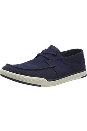 Clarks Men's Step Isle Base Low-Top Sneakers, (Navy Canvas Navy Canvas)