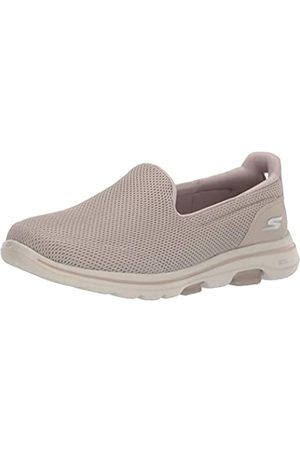 Skechers Women's GO Walk 5 Trainers, (Taupe Textile/Trim TPE)