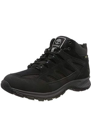 Timberland Men's Sadler Pass Fabric and Leather Mid Gore-Tex Hiker Boots, ( Suede)